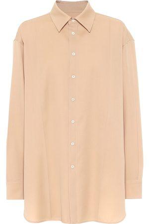 Jil Sander Wool-gabardine shirt