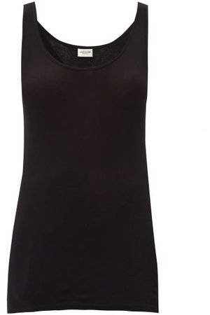 Saint Laurent Scoop-neck Modal-blend Tank Top - Womens