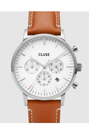 Cluse Aravis Chronograph Leather - Watches (Light ) Aravis Chronograph Leather