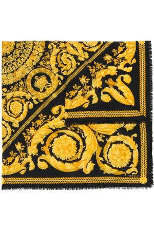 VERSACE Scarves - Fine knit baroque print scarf