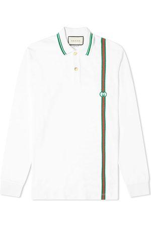 Gucci Men Long Sleeve - Long Sleeve Stripe Jersey Polo