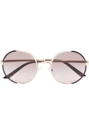 Prada Round-frame gradient-lens sunglasses