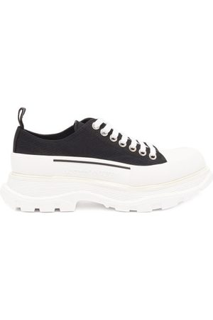 Alexander McQueen Tread Slick Chunky-sole Canvas Trainers - Womens