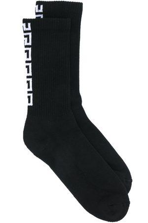 VERSACE Patterned ribbed socks