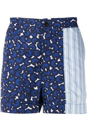 Neil Barrett Men Bermudas - Printed bermuda shorts