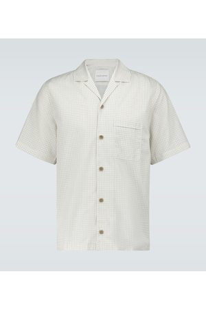 King and Tuckfield Micro checked bowling shirt