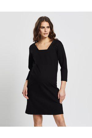 Love2wait Ponte di Roma Suede Neckline Dress - Dresses Ponte di Roma Suede Neckline Dress