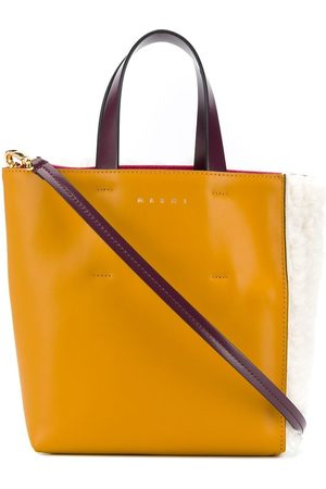 Marni Women Tote Bags - Sherling panelled tote bag