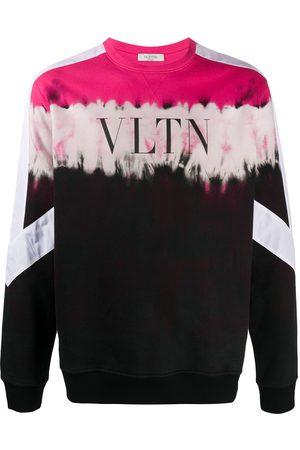 VALENTINO Panelled VLTN logo print sweatshirt