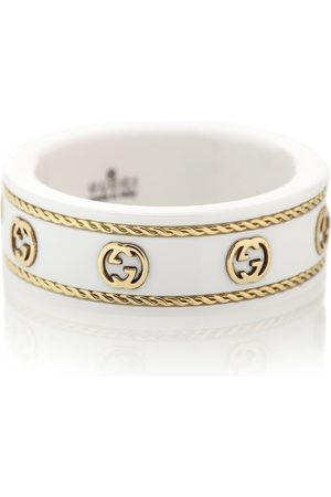 Gucci Icon Interlocking G zirconia and 18kt gold ring
