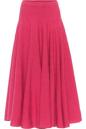 Marni Virgin wool pleated midi skirt