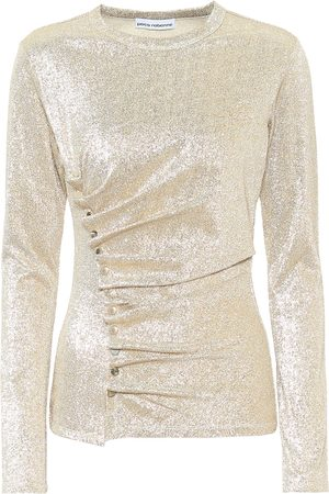 Paco rabanne Metallic jersey top