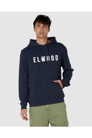 Elwood Mens Huff N Puff Hood - Sweats & Hoodies (Dark Navy) Mens Huff N Puff Hood