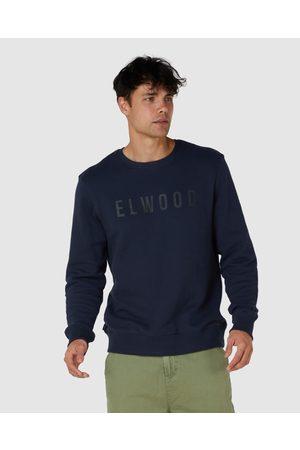 Elwood Mens Huff N Puff Crew - Sweats & Hoodies (Dark Navy) Mens Huff N Puff Crew