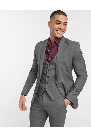 New Look Skinny suit jacket in dark grey