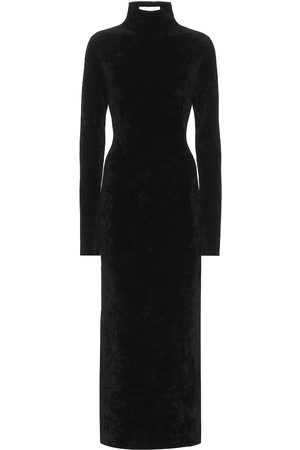 Jil Sander Women Maxi Dresses - Velour mockneck midi dress