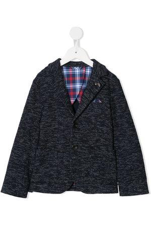 Familiar Boys Blazers - Plaid detail car embroidered blazer