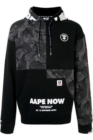AAPE BY A BATHING APE Men Hoodies - Hooded patchwork sweatshirt