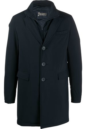 HERNO Layered button front coat