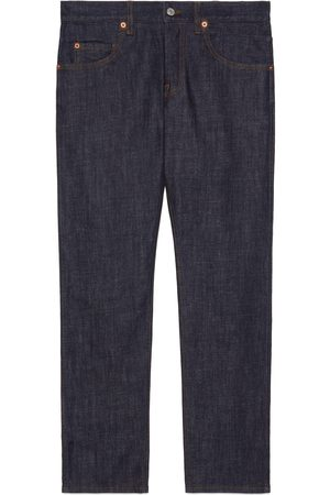 Gucci Washed denim tapered pant