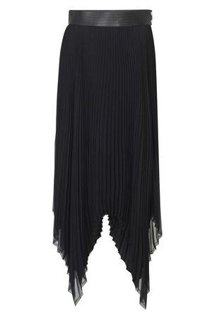 Loewe Women Leather Skirts - Pleated skirt leather trim