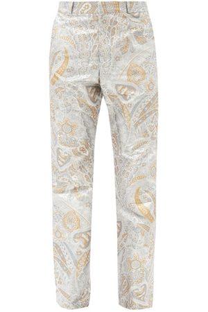 Paco rabanne Paisley-jacquard Lurex Straight-leg Trousers - Mens