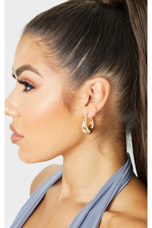 PRETTYLITTLETHING Oval Chunky Hoop Earrings