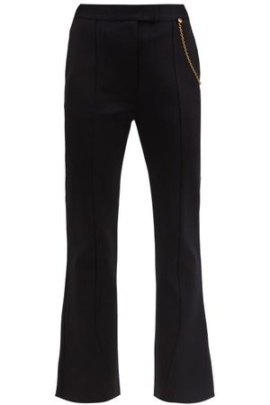 Givenchy Chain-embellished Kick-flare Trousers - Womens