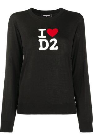 Dsquared2 Women Sweaters - I Love D2 wool jumper