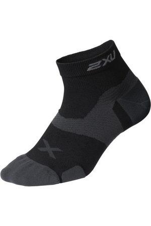 2XU Vectr Cushion 1/4 Crew - Unisex Running Socks - /Titanium