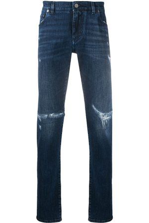Dolce & Gabbana Logo plaque distressed jeans