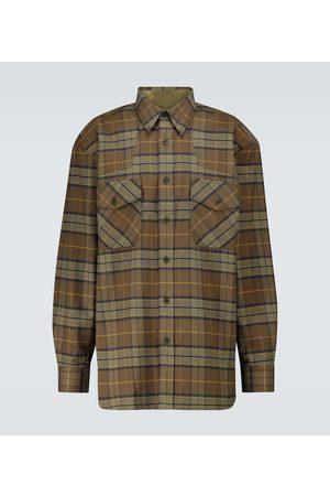 DRIES VAN NOTEN Checked flannel long-sleeved shirt