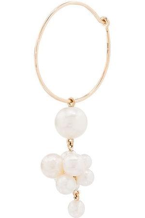 SOPHIE BILLE BRAHE 14kt Botticelli pearl hoop single earring