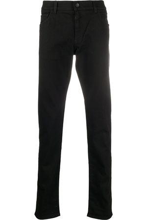 Dolce & Gabbana Logo-patch straight-leg jeans