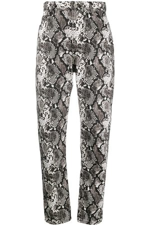 The Attico High-waisted snake print trousers