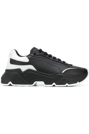 Dolce & Gabbana Calf leather trainers with thick rubber sole