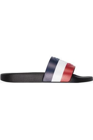 Moncler Basile tri-stripe slides