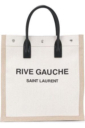 Saint Laurent Women Tote Bags - Logo-print tote bag