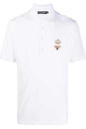 Dolce & Gabbana Embroidered emblem polo shirt