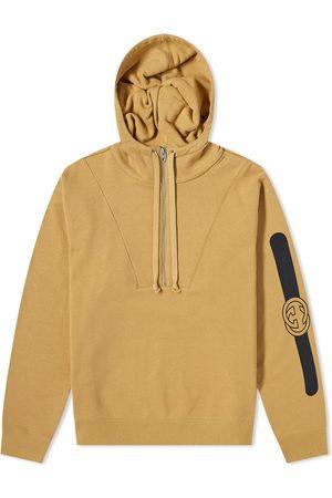 Gucci Men Hoodies - Half Zip Popover Logo Hoody