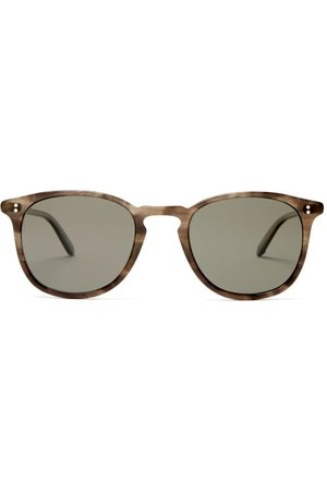 GARRETT LEIGHT Kinney Round Acetate Sunglasses - Mens