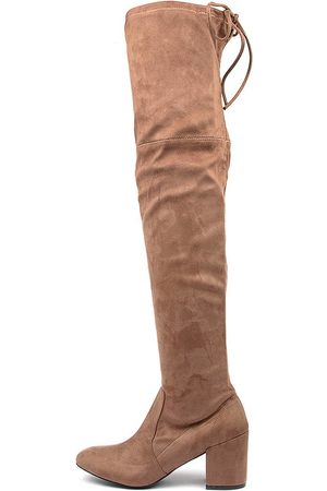 KO Fashion Women Knee High Boots - Laura Kf Taupe Boots Womens Shoes Casual Long Boots