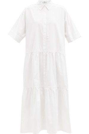 CO Tiered tton-sateen Midi Shirt Dress - Womens