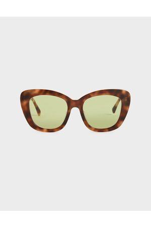 CHARLES & KEITH Tortoiseshell Acetate Butterfly Sunglasses
