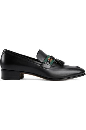 Gucci Web detailed GG motif loafers