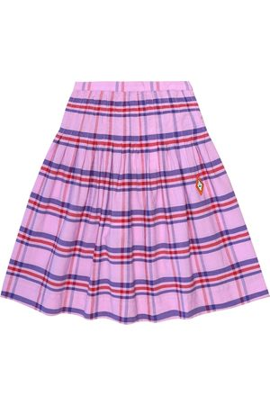 The Animals Observatory Jellyfish checked cotton skirt