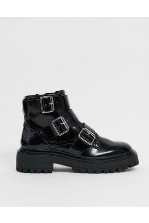 ASOS Awaken biker boots in black