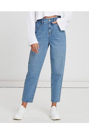 Calli Hudson Mom Jeans - High-Waisted (Mid- Wash) Hudson Mom Jeans