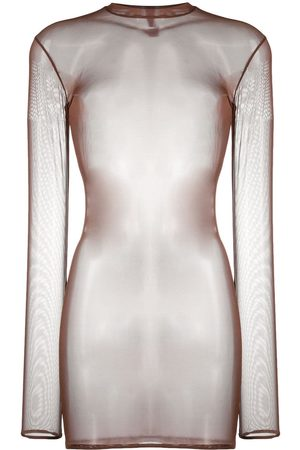 MAISON CLOSE Sheer mesh mini dress