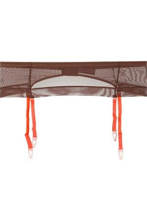MAISON CLOSE Mesh garter belt